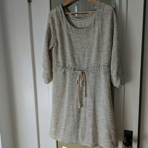 Anthropologie Jersey Scoop Neck Shift Dress